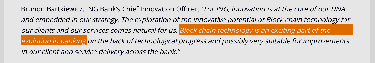 Brunon Bartkiewicz, ING Bank's Chief Innovation Officer op bitcoincongres.nl (24 juni 2015 te Amsterdam, in het ING hoofdkantoor)